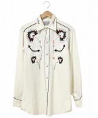 H BAR C(エイチバーシー)の古着「レーヨンギャバ刺繍ウエスタンシャツ」