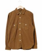 TENDERLOIN(テンダーロイン)の古着「プレーンフランネルシャツ」 ブラウン