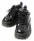 EYTYS(エイティーズ)の古着「Angel Leather Sneakers/ダットスニーカ」 ブラック