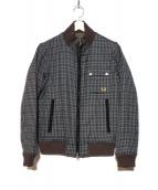 FRED PERRY(フレッドペリー)の古着「中綿リバーシブルジャケット」|グレー