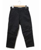 BLACK COMME des GARCONS(ブラックコムデギャルソン)の古着「バイカーテーパードパンツ」 ブラック