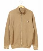Zepanese Club(ゼパニーズクラブ)の古着「鹿の子トラックジャケット」|ベージュ