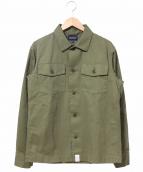 DESCENDANT(ディセンダント)の古着「ヘリンボーンL/Sシャツ」|カーキ