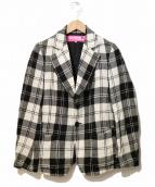 JUNYA WATANABE CDG(ジュンヤワタナベ コムデギャルソン)の古着「チェックジャケット」|ホワイト×ブラック