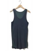 SUNSEA(サンシー)の古着「レイヤードタンクトップ」|ブラック×グリーン