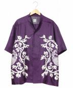 SASQUATCHfabrix.(サスクワッチ ファブリックス)の古着「プリント半袖シャツ」|パープル