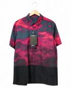 JohnUNDERCOVER(ジョンアンダーカバー)の古着「雲柄半袖シャツ」|レッド