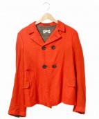 robe de chambre COMME des GARCONS(ローブドシャンブルコムデギャルソン)の古着「[OLD]80's縮絨ウールジャケット」 レッド