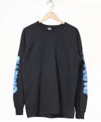 MARINO INFANTRY(マリノインファントリー)の古着「袖プリント長袖Tシャツ」|ブラック
