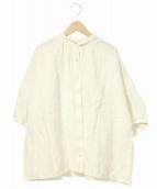 nest Robe(ネストローブ)の古着「ギャザーリネンシャツ」 ホワイト
