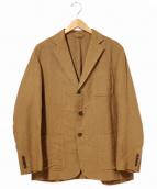 COMOLI(コモリ)の古着「コットンシルクリネン3Bジャケット」 ブラウン