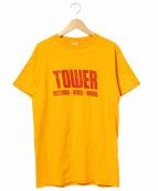 TOWER RECORDS VIDEO BOOKS(タワーレコードビデオブックス)の古着「タワーレコードTEE」|マスタード