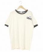 Champion(チャンピオン)の古着「70'sリンガーTEE」 ホワイト×ネイビー
