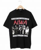 ラップTシャツ(ラップTシャツ)の古着「[古着]N.W.A Tシャツ」|ブラック