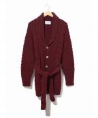 INVERALLAN(インバーアラン)の古着「ショールカラーカーディガン」|レッド