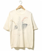 VINTAGE(ヴィンテージ/ビンテージ)の古着「[古着]不思議の国のアリスTEE」|ベージュ