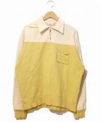 LEVIS VINTAGE CLOTHING(リーバイス ヴィンテージ クロージング)の古着「ポケットプルオーバー」 ベージュ×イエロー