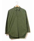 VINTAGE MILITARY(ヴィンテージ ミリタリー)の古着「スウェーデン軍プルオーバーシャツ」|カーキ
