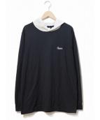 Supreme(シュプリーム)の古着「Contrast Hooded L/S Top」|ブラック×グレー
