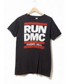 ラップTシャツ(ラップTシャツ)の古着「[古着]80's RUN DMC Tシャツ」|ブラック