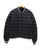 EMPORIO ARMANI EA7(エンポリオ アルマーニ イーエーセブン)の古着「ショートパフジャケット」|ブラック×ホワイト