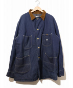 Lee(リー)の古着「裏ブランケットカバーオール」|インディゴ