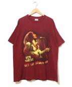 ラップTシャツ(ラップTシャツ)の古着「[古着]90'sボブ・マーリーTEE」 エンジ