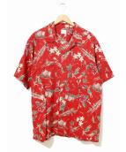 PAPAS(パパス)の古着「アロハシャツ」 レッド