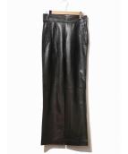 GUCCI(グッチ)の古着「カウレザーパンツ」|ブラック