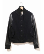 MUVEIL(ミュベール)の古着「ホースレザースリーブスタジャン」|ブラック