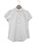 BLUE LABEL CRESTBRIDGE()の古着「ショートスリーブシャツ」|ホワイト