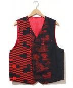 Engineered Garments(エンジニアードガーメンツ)の古着「Reversible Vest」|レッド×ブラック