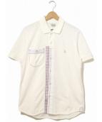 eYe COMME des GARCONS JUNYAWATANABE MAN(アイコムデギャルソンジュンヤワタナベマン)の古着「パッチワークポロシャツ」|ホワイト