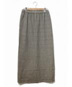 ROBE DE CHAMBRE COMME DES GARCONS(ローブドシャンブルコムデギャルソン)の古着「[OLD]90'sチェックマキシスカート」|グレー