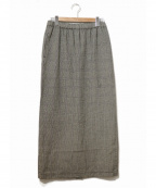 ROBE DE CHAMBRE COMME DES GARCONS(ローブドシャンブル コムデギャルソン)の古着「[OLD]90'sチェックマキシスカート」|グレー