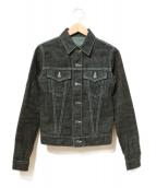 Lucien pellat-finet(ルシアンペラフィネ)の古着「バックスカルデニムジャケット」 ブラック×ブルー