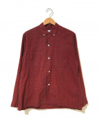 TOWN CRAFT(タウンクラフト)の古着「[古着]ヴィンテージ3点留めボタンダウンシャツ」 レッド