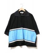 NEON SIGN(ネオンサイン)の古着「ポロシャツ」|ブラック×ブルー