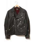 RRL(ダブルアールエル)の古着「60/40クロスライダースジャケット」|ブラック