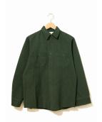 VINTAGE(ヴィンテージ)の古着「[古着]ヴィンテージコーバートシャツ」|グリーン