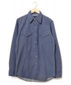 ROEBUCKS(ローバックス)の古着「ヴィンテージデニムウエスタンシャツ」|インディゴ
