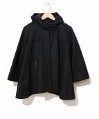 muller of yoshiokubo(ミュラーオブヨシオクボ)の古着「カシミヤ混フーデットケープ」|ブラック