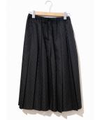 tricot COMME des GARCONS(トリコ コム デ ギャルソン)の古着「ウールギャバコンビプリーツスカート」 ブラック