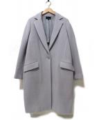 22 OCTOBRE(ヴァンドゥーオクトーブル)の古着「ウールカシミヤ接結リバーチェスターコート」|グレー