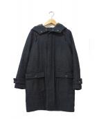 Johnbull(ジョンブル)の古着「ウールフーデッド中綿コート」|グレー