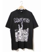 バンドTシャツ(バンドTシャツ)の古着「[古着]MIS FITS バンドTシャツ」|ブラック