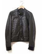 Dior Homme(ディオール オム)の古着「ナポレオンラムレザージャケット」|ブラック