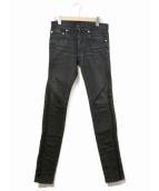 Dior Homme(ディオール オム)の古着「サイドラインスキニーパンツ」|ブラック