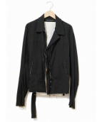 Ys(ワイズ)の古着「ダメージ加工ベルテッドジャケト」|ブラック