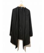 Dior Homme(ディオール オム)の古着「ベルテッドウールデザインコート」|ブラック